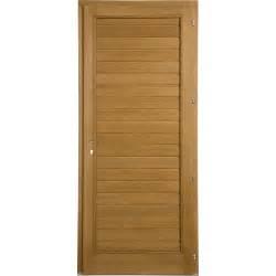 porte de service bois plagne poussant gauche h 200 x l 90