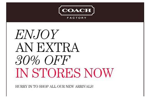 printable coupon coach factory outlet