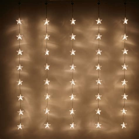 40 led warm white star curtain light lights4fun co uk