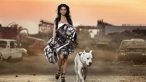 wallpaper girl dog wallpapers girl hot 26