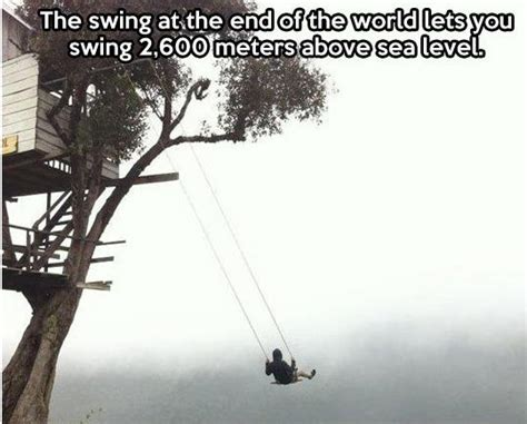 Swing At The End Of The World Barnorama