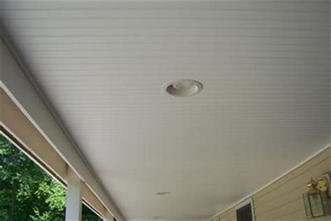 beadboard soffit panels install vinyl beadboard ceiling on porch