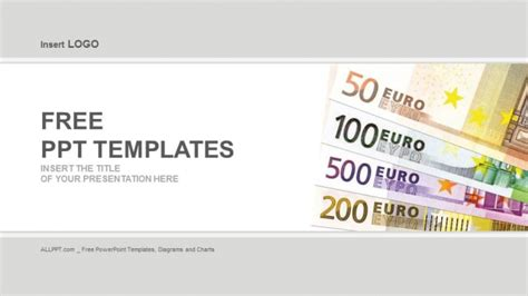 template ppt finance free euro banknotes finance powerpoint templates