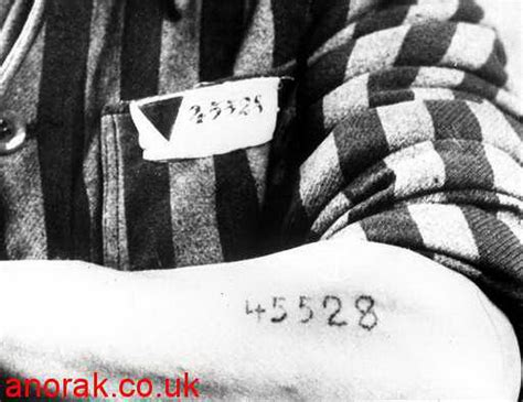 tattoo numbers auschwitz german concentration c displays identification number