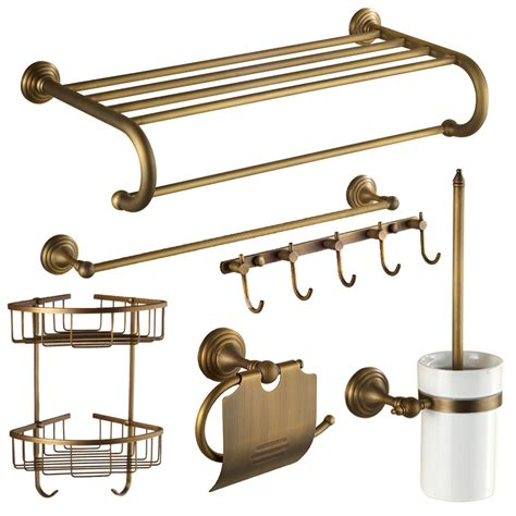 Antique Brass Bathroom Accessories Antique Brass Golden Vintage Bathroom Accessories Sets