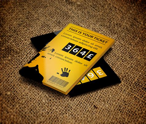design event tickets photoshop ticket design on behance