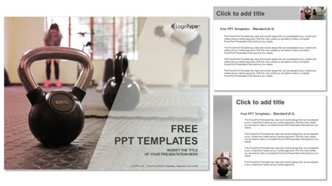 Free Fitness Powerpoint Templates fitness trainer sports powerpoint templates