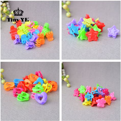 Hair Clip Mini Fuschia Clip 6 25pcs todder accessories mini hair claw cls flower plastic hair grips hair jaw