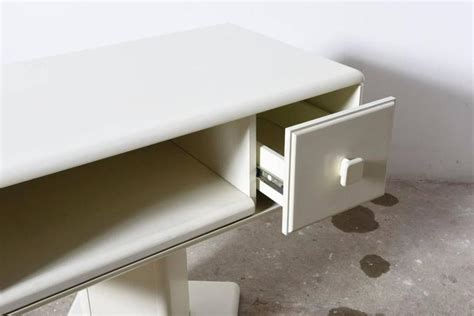 adjustable white counter display vanity table made in