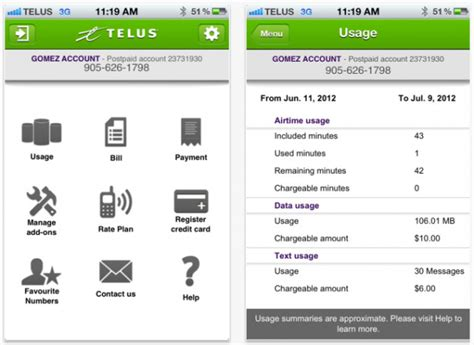 My Telus Phone Lookup Telus Quot My Account Quot Iphone Android And Blackberry App Now