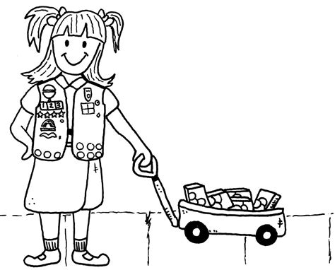 girl scouts coloring pages junior girl scouts coloring
