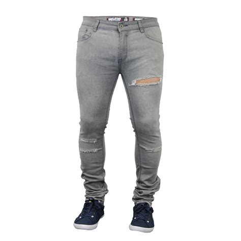 Ripped Denim mens ripped denim fit by soul ebay