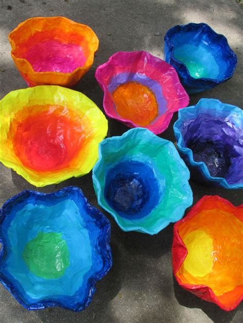 craft paper mache chihuly inspired paper mache bowls approx 12 quot 14 quot wide