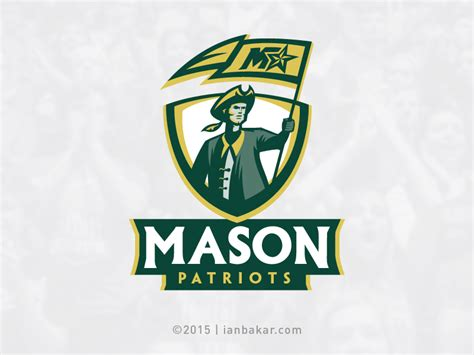 color the george mason university brand profile mason patriots gmu university athletics rebrand on behance