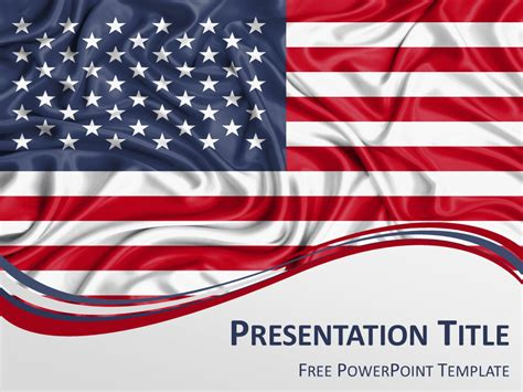 powerpoint themes us flag united states flag powerpoint template presentationgo
