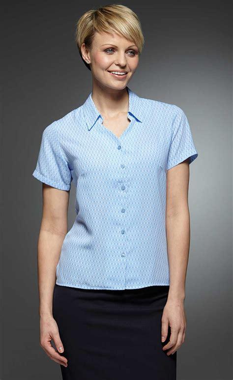 Dolce Blues Sl Blouse Wanita Denim Biru patterned blouses uk empat blouse