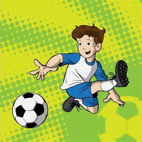 imagenes de niños jugando futbol en caricatura ni 209 o jugando futbol vector descarga en vectorportal