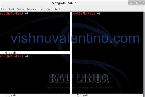 kali linux terminal tutorial split kali linux terminal window ethical hacking