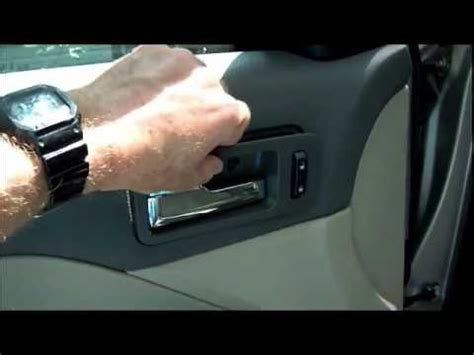 Ford Fusion Interior Door Handle Replacing Broken Inside Door Handle On 2007 Ford Fusion How To Save Money And Do It Yourself
