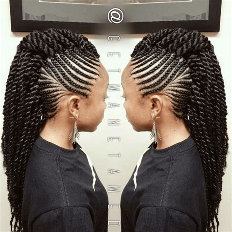 different styles of wrappin mohawk 6 ways to style box braids mohawks