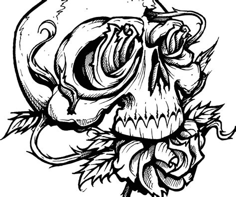 skull tattoo designs free flash free colouring pages