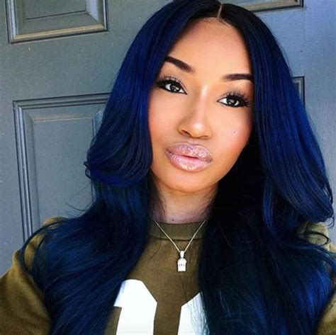 coloured hair extensions hairstyles blue black hair and midnight blue hair on pinterest