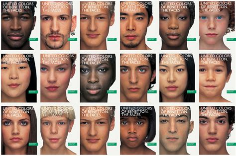 united colors of beneton the faces united colors of benetton on behance