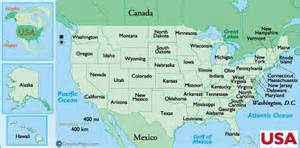 map usa cities names state us state names