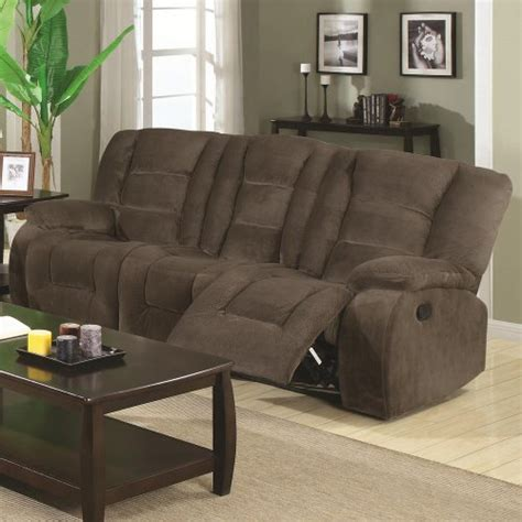 coaster home furnishings casual motion sofa brown siege