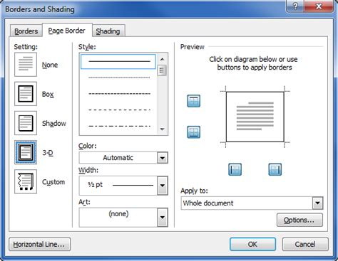 microsoft word page layout side by side add a border to a page microsoft office support