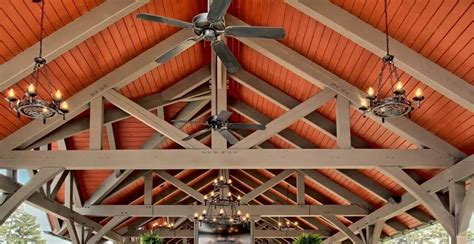 large timber trusses timber frame trusses create an open and dramatic effect