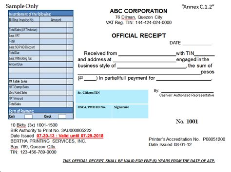 Official Receipt Template Philippines by Bir Bir S New Invoicing Requirements Effective June 30 2013
