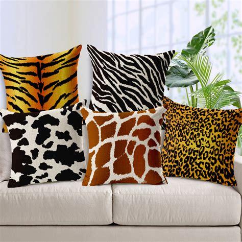 zebra pattern cushions animal pattern cushion cover giraffe leopard tiger zebra