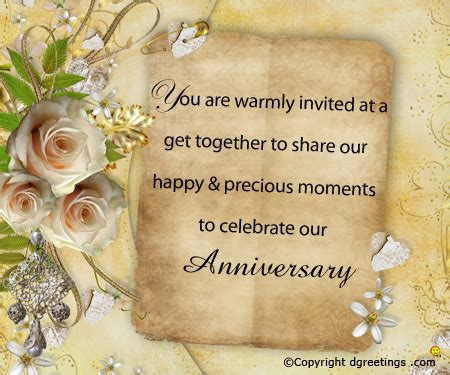 Wedding Blessing Wording For Invites by Anniversary Invitation Wording Free Anniversary
