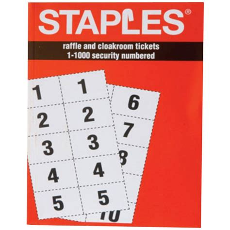 staples printable tickets template create your own raffle tickets