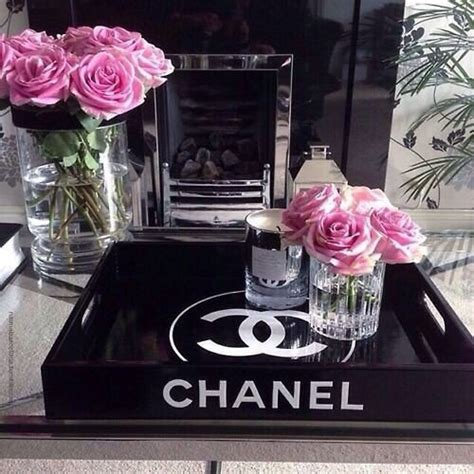 Chanel Inspired Home Decor Buckets Candle Chanel Decor Idea Decoration Flowers Luxury Pink Room Decor Water
