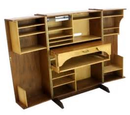 Secretary Desk With File Drawer Danish Mid Century Modern Box Fold Away Secretary Desk