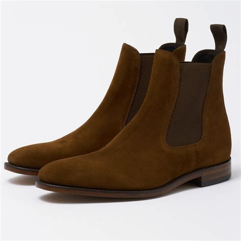 Chelsea Boots loake mitchum brown suede leather chelsea boot