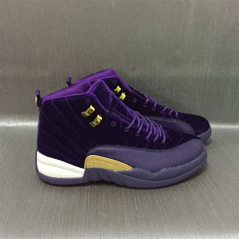purple jordans shoes new air 12 velvet purple gold shoes 17og42408