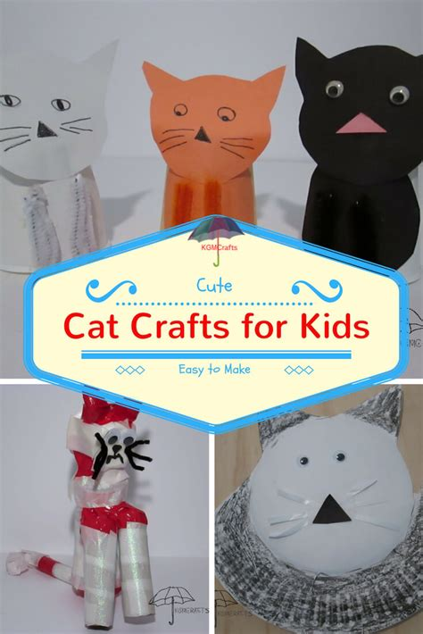 cat craft for popsicle stick crafts for easy and