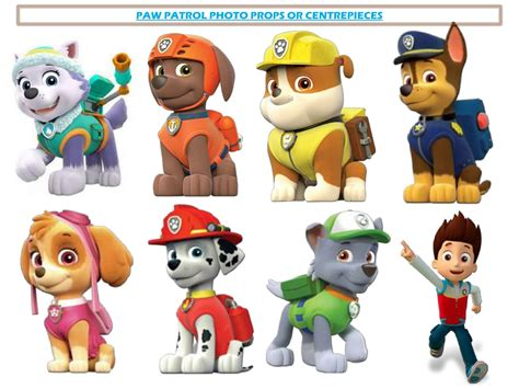 printable images of paw patrol manualidades photo props de paw patrol
