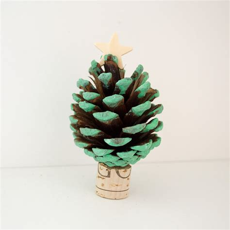 pine cone tree craft project pinecone tree craft food