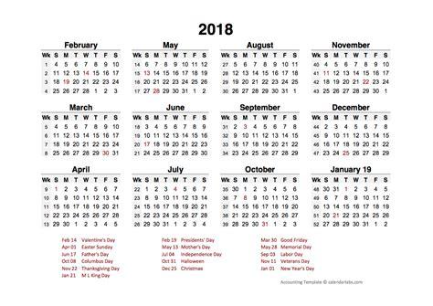 accounting period calendar     printable templates