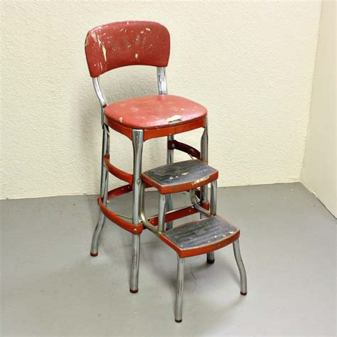 Kitchen Chair Step Stool by Vintage Stool Step Stool Kitchen Stool Cosco Chair