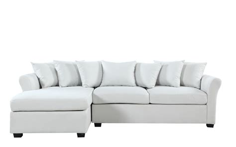 wide chaise sofa joanne linen sectional with wide chaise lounge sofamania com