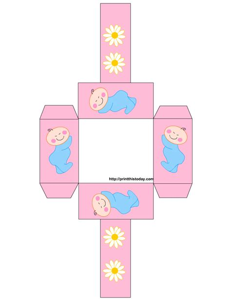 Free Printable Baby Shower Favor Baskets Baby Shower Downloadable Templates
