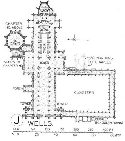 Wells Cathedral Floor Plan | plan of wells cathedral uk arch tecture pinterest