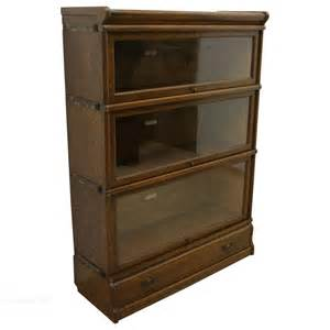 Stacking Bookshelves Globe Wernicke Oak Sectional Stacking Bookcase Antiques
