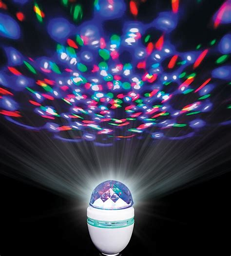 rotating disco ball led light bulb
