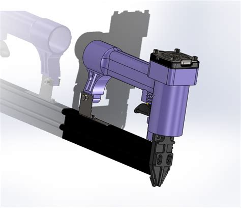 solidworks tutorial gun pneumatic nail gun solidworks 3d cad model grabcad